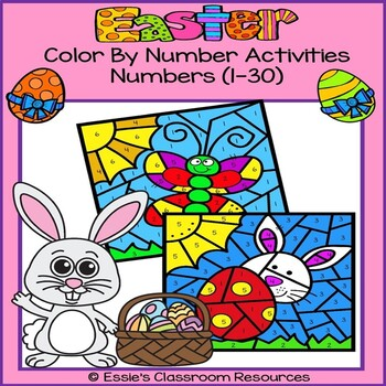Easter Color By Number Activities
