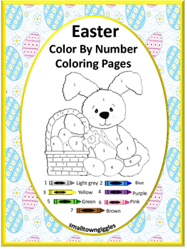 Color by Number Easter, Fine Motor Skills, Kindergarten,  Special Education
