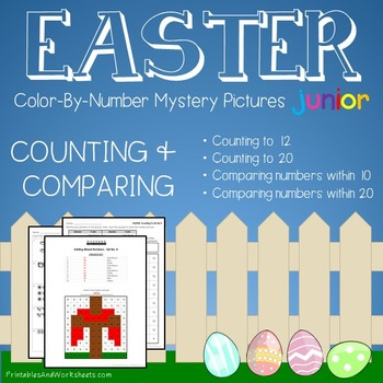 Easter Counting/Greater Than/Less Than - Color-By-Number M
