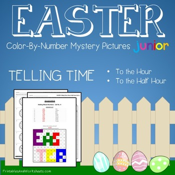 Easter Color-By-Number: Telling Time the Hour / Telling Ti