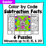 Easter Color By Subtraction Facts: Minuends up to 10, 15, & 20