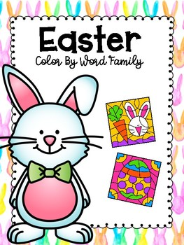 Easter Color By Word Family