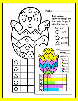 Easter Activities - Counting and Graphing Shapes - Easter Math