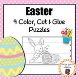 Easter Color, Cut & Glue Puzzles