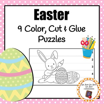 Easter Color, Cut & Glue Puzzles