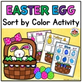 Easter Sorting by Color Activity for Preschool