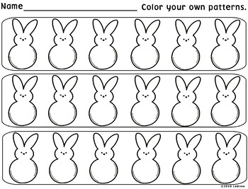 Easter Centers Spring Activities Color Word Match Peep Patterns Math Literacy