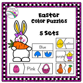 Easter Color Puzzles Preschool