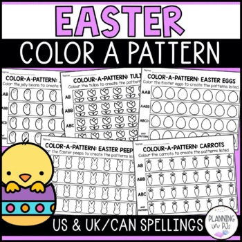 Easter Color-a-Pattern: Eggs & Jelly Beans