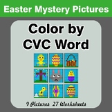Easter: Color by CVC Word - Easter Mystery Pictures