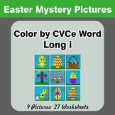 Easter: Color by CVCe Word | Long i - Easter Mystery Pictures