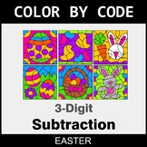 Easter Color by Code - 3-Digit Subtraction