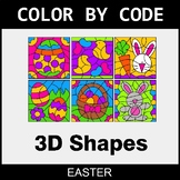 Easter Color by Code - 3D Shapes
