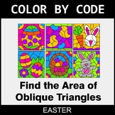 Easter Color by Code - Area of Oblique Triangles