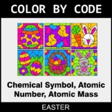 Easter Color by Code - Chemical Symbol, Atomic Number, Ato