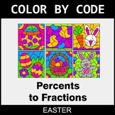 Easter Color by Code - Converting Percents to Fractions
