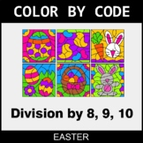 Easter Color by Code - Division by 8,9,10