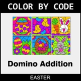Easter Color by Code - Domino Addition