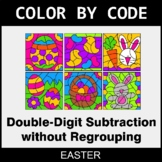 Easter Color by Code - Double-Digit Subtraction without Re