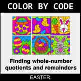 Easter Color by Code - Find Whole-Number Quotients and Remainders