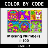 Easter Color by Code - Find the Missing Numbers (1-100)