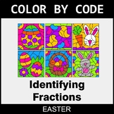 Easter Color by Code - Identifying Fractions