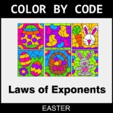 Easter Color by Code - Laws of Exponents