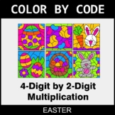 Easter Color by Code - Multiplication: 4-Digit by 2-Digit