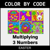 Easter Color by Code - Multiplying 3 Numbers