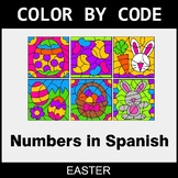 Easter Color by Code - Numbers in Spanish