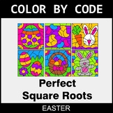 Easter Color by Code - Perfect Square Roots