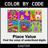 Easter Color by Code - Place Value of Underlined Digit