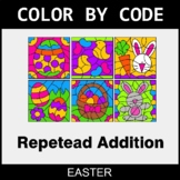 Easter Color by Code - Repeated Addition