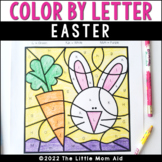 Easter Color by Letter | Easter Alphabet Coloring Pages