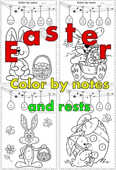 Easter: Color by Music Pack.