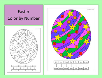 Easter Color by Number - US and UK spelling versions