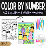 Easter Color by Number Activity: Add & Subtract Whole Numb