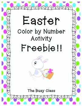 Easter Color by Number Activity- Freebie!