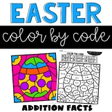 Easter Color by Number Addition Facts