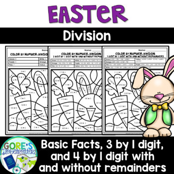 Easter / Spring Math Color by Number - Differentiated Division