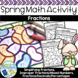 Easter / Spring Math Color by Number - Differentiated Fractions