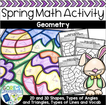 Easter / Spring Math Color by Number - Differentiated Geometry