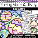 Spring Math Color by Number Differentiated Geometry