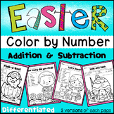 Easter Color by Number- Differentiated (Numbers, Add&Subtr