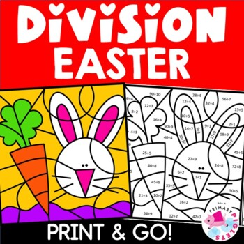 Easter Color by Number Division Facts Set