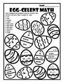 Easter Color by Number Easter Math Color by Number Easter Egg Math Add Subtract