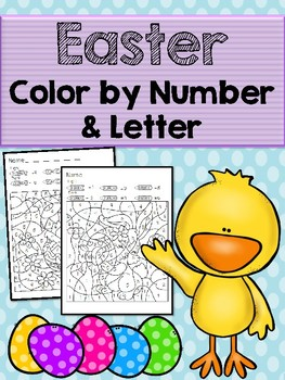 Easter Color by Number & Letter