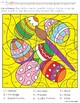 Easter Color by Number - Rounding Decimals