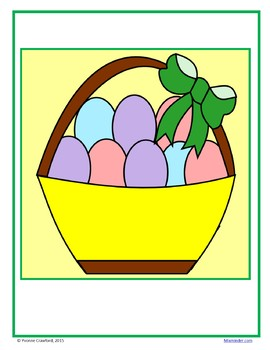 Easter Color by Number (fifth grade) Color by Decimals, Fractions