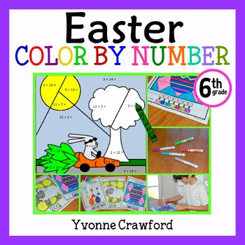 Easter Color by Number (sixth grade) Color by Decimals, Absolutes